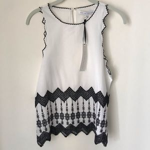 English Factory NWT embroidered NWT sleeveless S